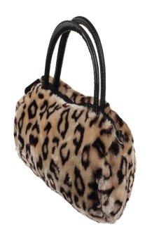 HKS Women Plush Handbag Autumn Winter handbag Shoulder Bag Purse Tote Black - Intl - intl