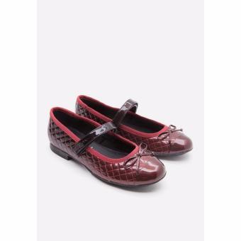 Giày búp bê GEOX GEOX J PLIE' D DK RED/BLACK