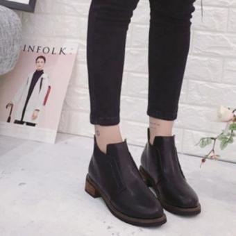 Giày Boot Nữ Da Khóa Kéo Sau MSP 2760 (Đen)