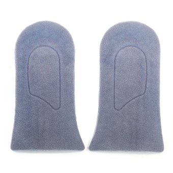 DHS Pair Silicone Height Increase Insole Taller Shoe Insert Heel Lift Blue - intl