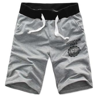 OH Summer New Men Casual Sports Beach Shorts Five Sub PantsWaistband Classic Gray XXL - Intl - intl