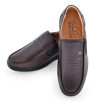 Giày tây da bò thật TÀI LỢI TL-418 (Nâu)