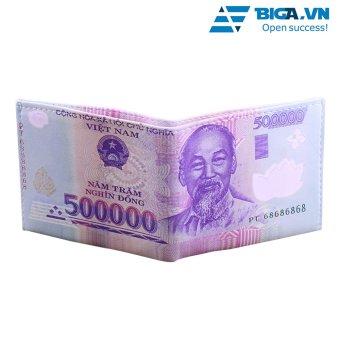 Ví Da Loại 1 Hình Dáng Tờ Tiền 500 VNĐ USA2626