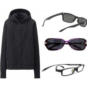 Áo Khoác Chống Nắng Kèm Khẩu Trang Chipxinhxk( đen) + 01 Kính chống tia UV