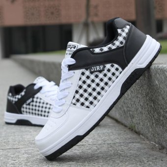 New Men 's Breathable Shoes Fashion Casual Running Shoes Sneakers WhiteBlack - Intl