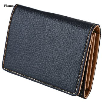 Flama Novelty Mini Card Wallet Solid Color Zigzag Folding Men(Coffee) - intl