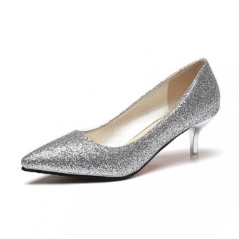 Classic Sexy Pointed Shoes High Heels Comfortable Appointments Wedding - intl
