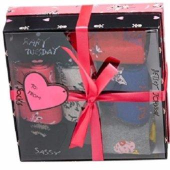 Hộp quà 7 đôi tất (vớ) nữ Betsey Crew Socks Gift Box 7-Pack (Mỹ)