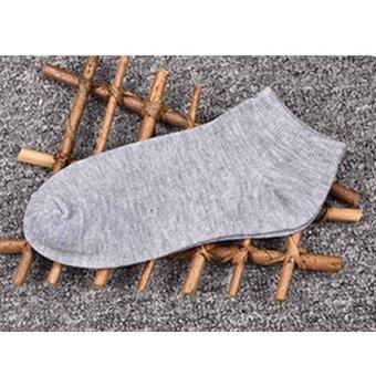 High Quality Men Sports Socks Comfortable Cotton Boat Socks Athletic Protect Socks 5Pairs - intl