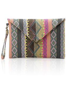 Women Ladies Girls Geometric Pattern Envelope Clutch Handbag Purse Tote Bag (Intl)