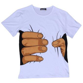 LALANG Causel 3D T-shirt (White) - Intl