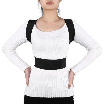 New Unisex Adjustable Breathable Posture Back Lumbar Waist Support Shoulder Belt Band(M) - intl