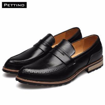 Giày Lười Nam Cao Cấp - Pettino GL-09 (đen)