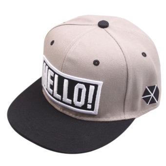 Men Women Adjustable HELLO Baseball Cap Hat (Intl)