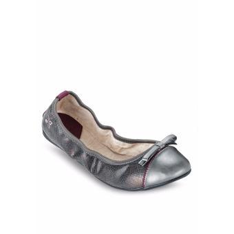 Giày Búp Bê Butterfly Twists Cara (Bt01012-213) Ngói Đen Họa Tiết Da Rắn