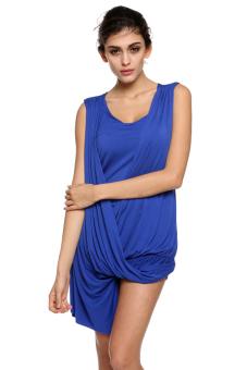 Asymmetric T-Shirt (Blue) - Intl