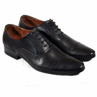 Giày tây cột dây Tathanium Footwear TFBKU0043 (Đen)