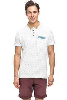 Bellfield Men's Printed Polo Shirt White