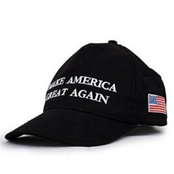 LALANG Fashion Men Baseball Cap Letter Printed Sun Hat 2# (Black) - intl