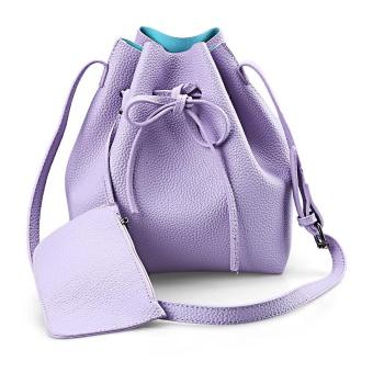 Belt Design Strap Dual Purposes Shoulder Crossbody Bucket Bag with Wallet for Lady - intl