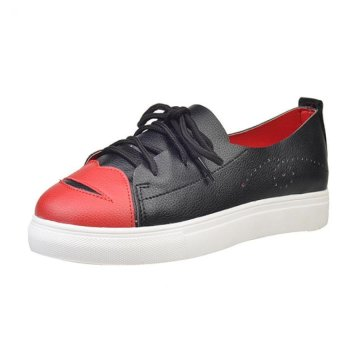 Breathable Fashion Woman Canvas Shoes Big Red-billed - intl