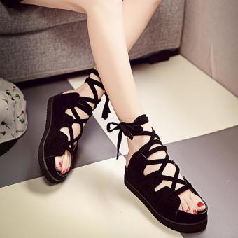 Giày sandal chiến binh bánh mì cột dây V1 S292
