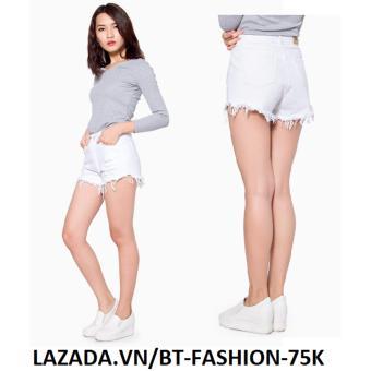Quần Sọt (Short) Kaki Lưng Cao - BT Fashion SO002 (Trắng)