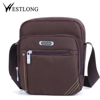 WESTLONG New Shoulder Bags Mens Bag Casual Man Business Messenger Oxford Travel Black Crossbody Flap High Quality Hot Sale Coffee - intl