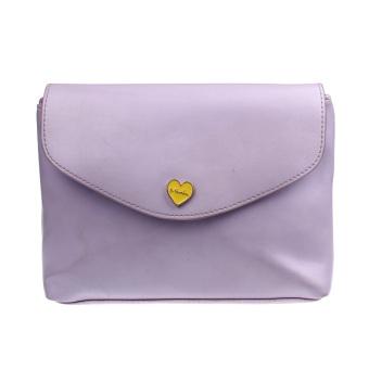 Leather Shoulder Bags Satchel Clutch Women Handbag Girl Messenger Purple