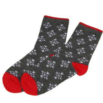 Women Winter Sock Christmas Xmas Gift Warm Wool Sock Novelty Cute Snowflower (Intl)