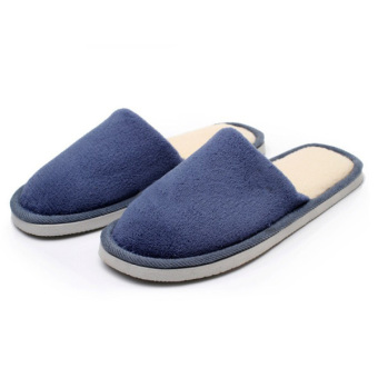 Men Indoor Slippers Winter Warm Anti-slip Shoes Soft Cotton Home Sandal - Intl