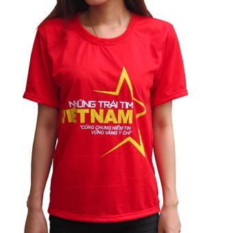 Áo cờ đỏ sao vàng nữ Vương Kim Thành ACDSV03NU ( Đỏ )