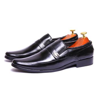 Giày tây nam da thật Giày Da Miền Trung VCT94LZD09D-1 ( Đen )