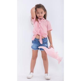 Quần shorts bé gái Ugether UKID166 (Xanh jeans nhạt)