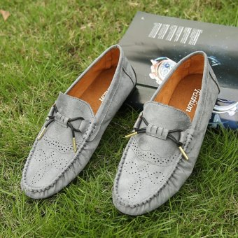 Jarma man's loafers slip-Ons shoes driving shoes male shoes flat moccasin Tods(Grey) - intl