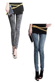 Bộ 2 quần legging Huy Kiệt HK103 (Đen và Xanh Đen)