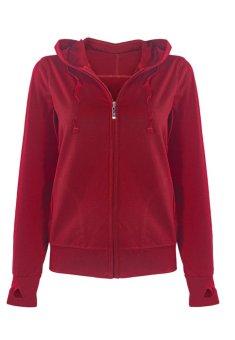 Áo khoác chống khoác cotton 2 trong 1 (đỏ đô)