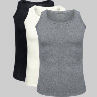Bộ 3 áo thun ba lỗ nam (Đen trắng xám)