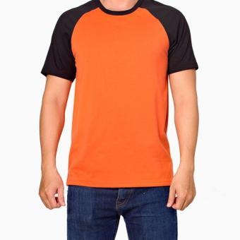 Áo thun Handee cổ tròn màu cam đen