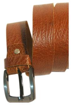 Thắt lưng da bò thô khóa kim inox DaH2 D0019 (Nâu)