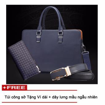 Túi laptop + Ví, dây lưng công sở CB112, thời trang Azado