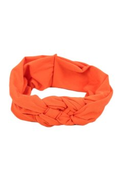 Fancyqube Soft Girl Kids Hairband Turban Knitted Knot CrossHeadband Headwear Orange