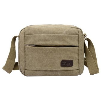 niceEshop Men's Vintage Canvas School Bag Messenger Shoulder Bags, Army Green - Intl