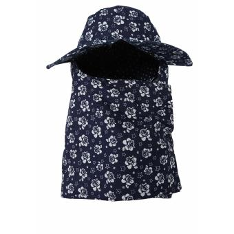 Mũ Chống Nắng Tím Than Hoa Nhí Salome Fashion