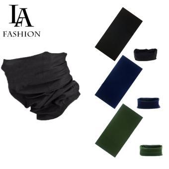 Combo 3 Khăn đa năng nam nữ thể thao dành cho phượt thủ - Chất liệu sợi siêu mịn polyester - Kích thước 25x48 cm (Đen, xanh đen, Xanh rêu)
