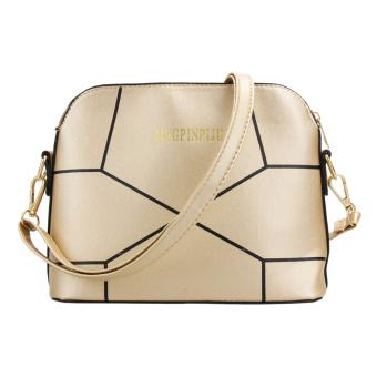 Women PU Leather Shoulder Bag (Gold) - intl