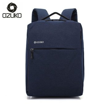 OZUKO Brand Minimalist Business Laptop Men Backpack Waterproof Oxford Travel Women Men College Backpacks School Bag (Blue) - intl
