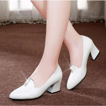 Giày da xịn đính đá ( đen )