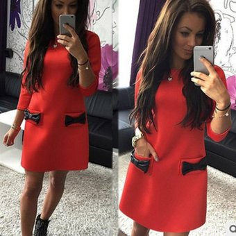 Đầm suông thời trang Đỏ - 175