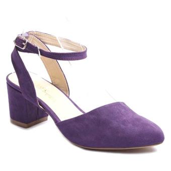 Giày Gót Thấp Mũi Nhọn Soyoung Gt 005 (Tím)